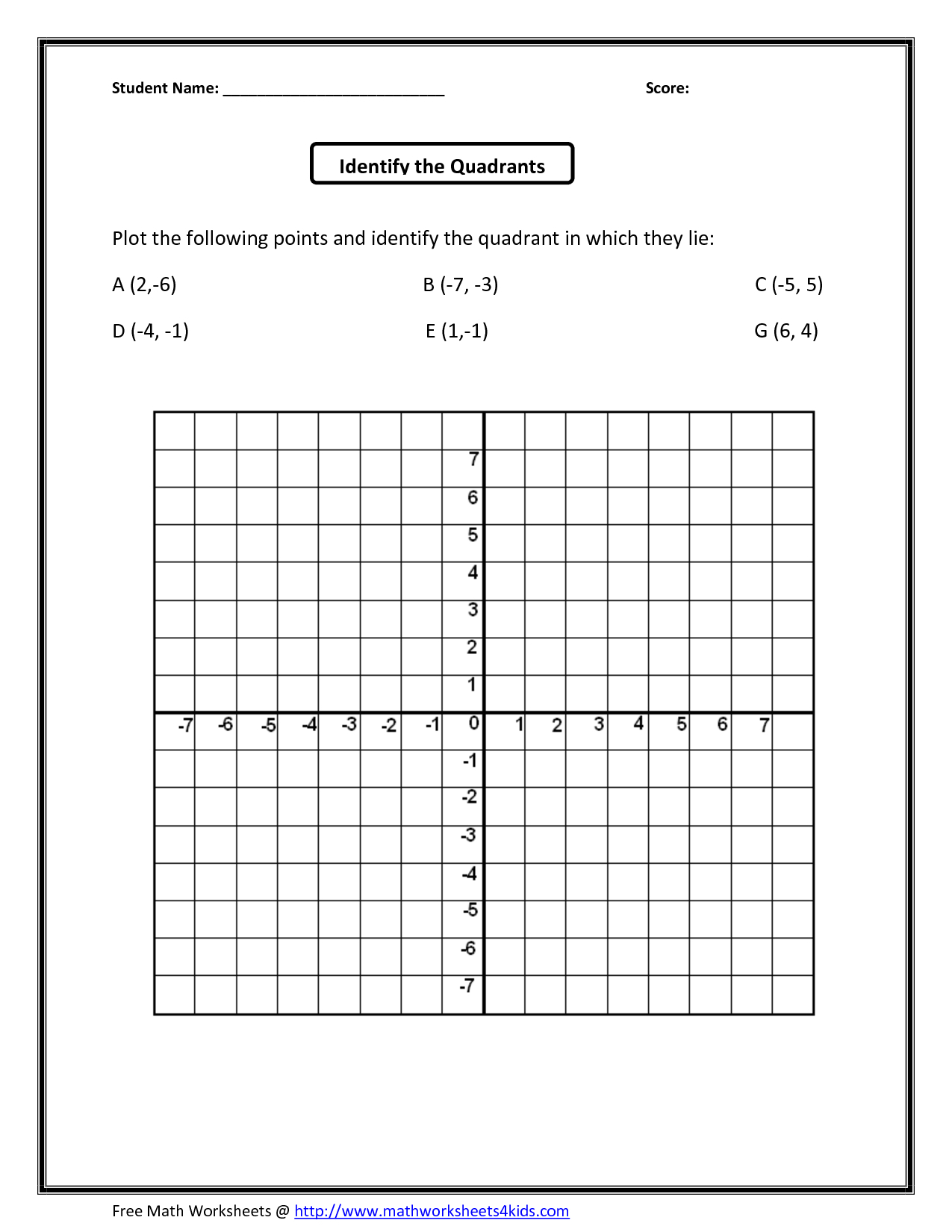 Printable Grids Worksheets
