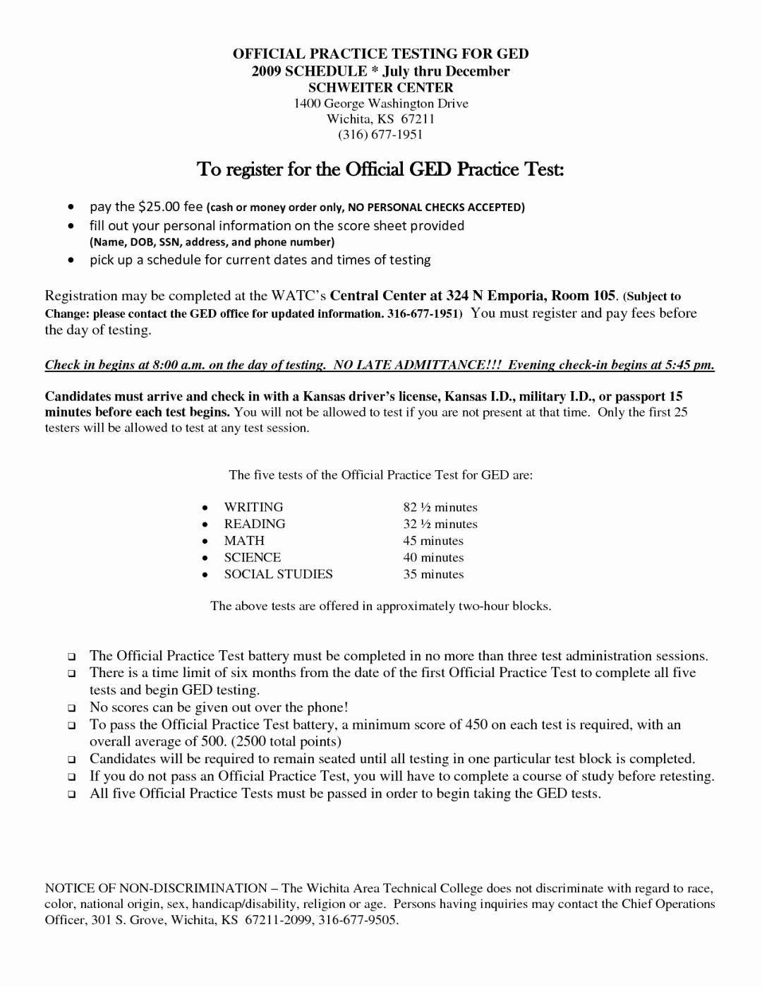 Printable Ged Practice Test A With Answers