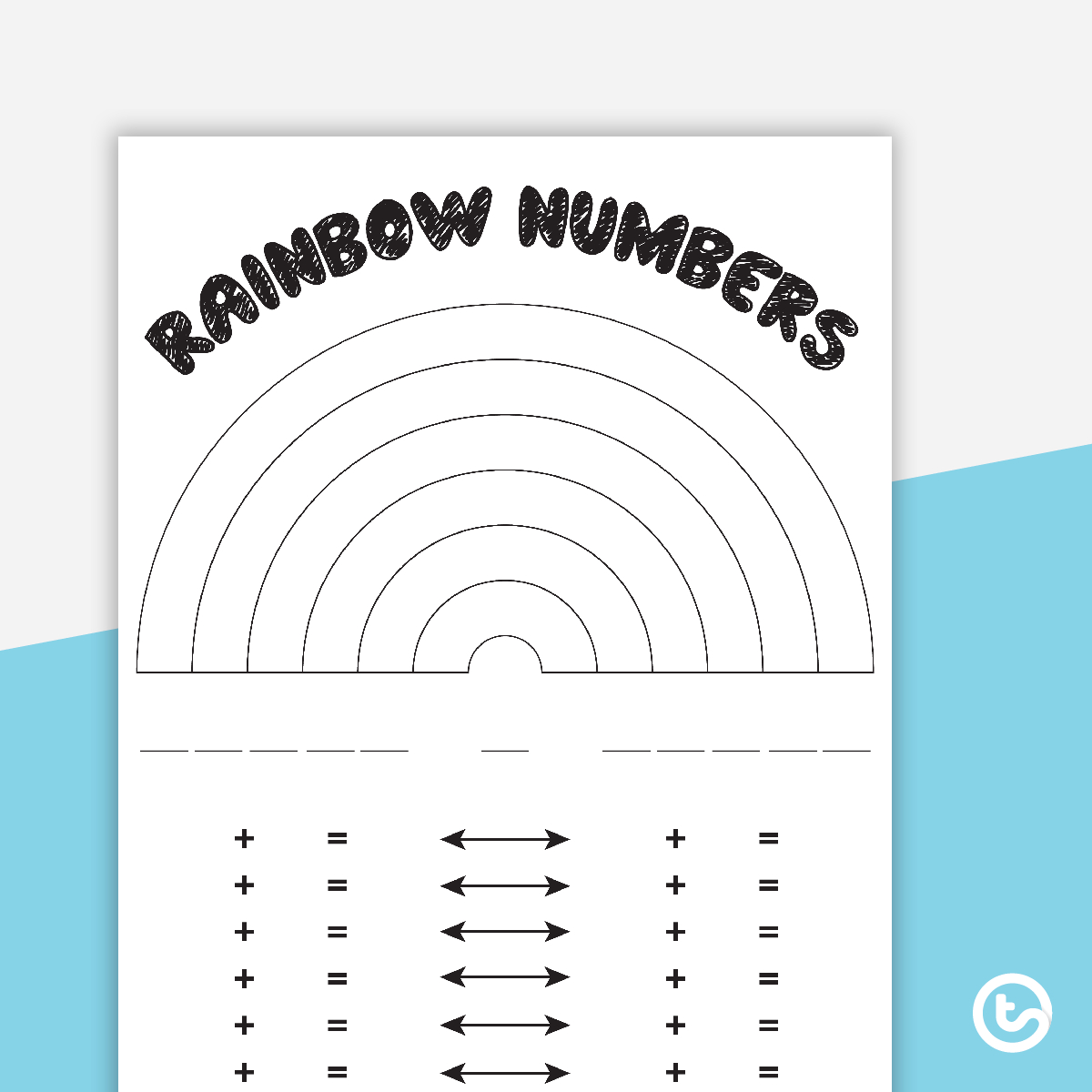 Rainbow Facts Worksheets Printable