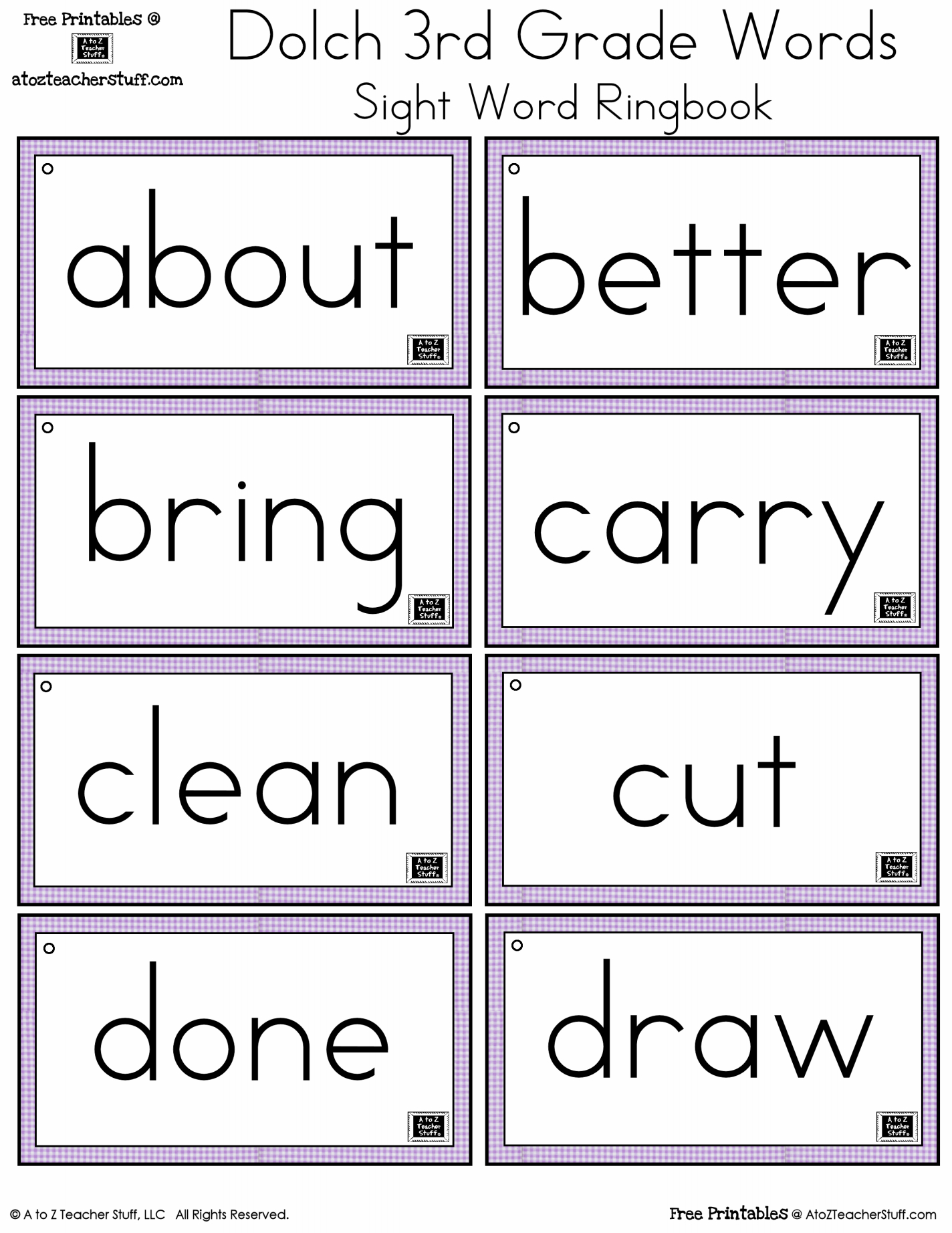 Free Printable Dolch Sight Words Worksheets