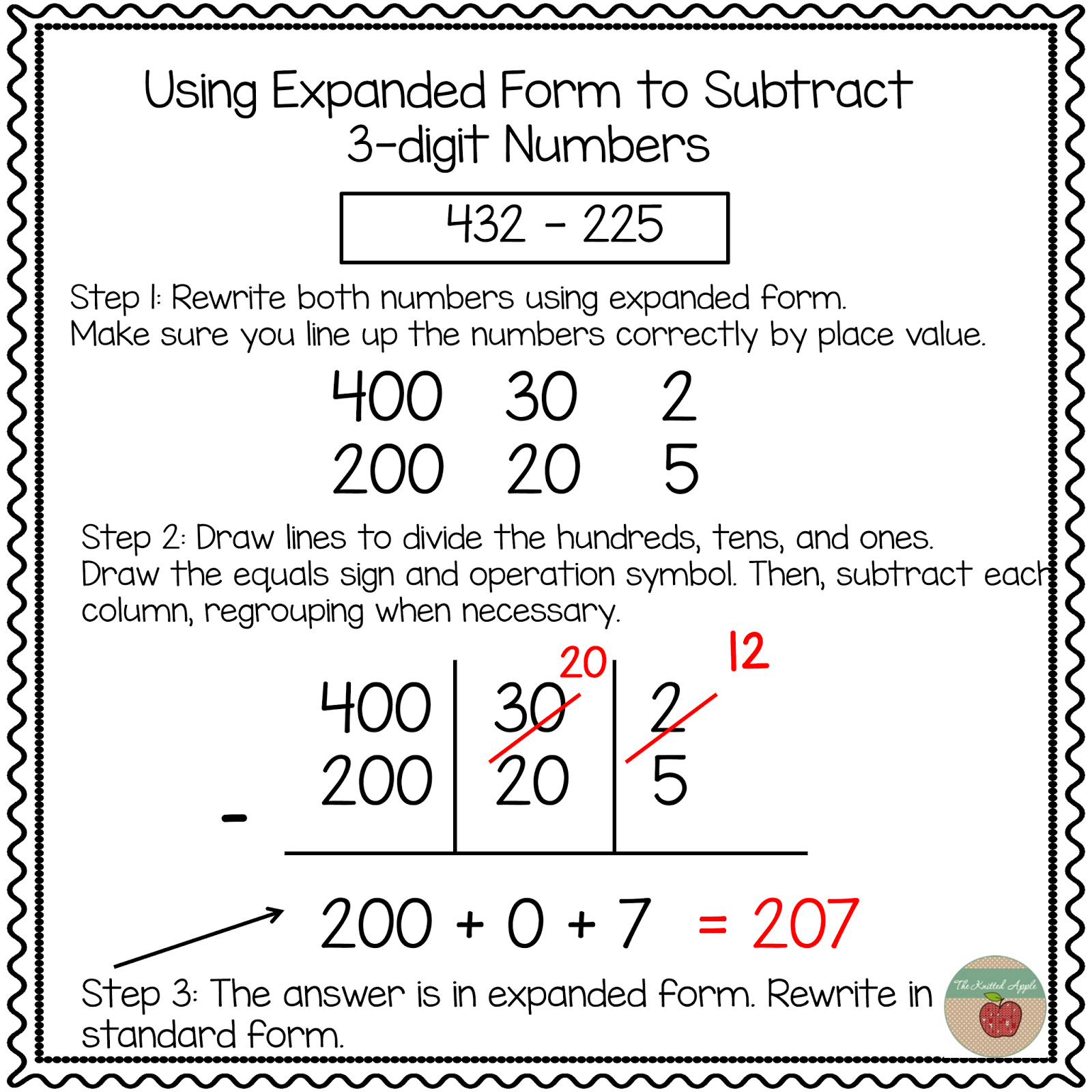 3 Digit Expanded Form Addition A