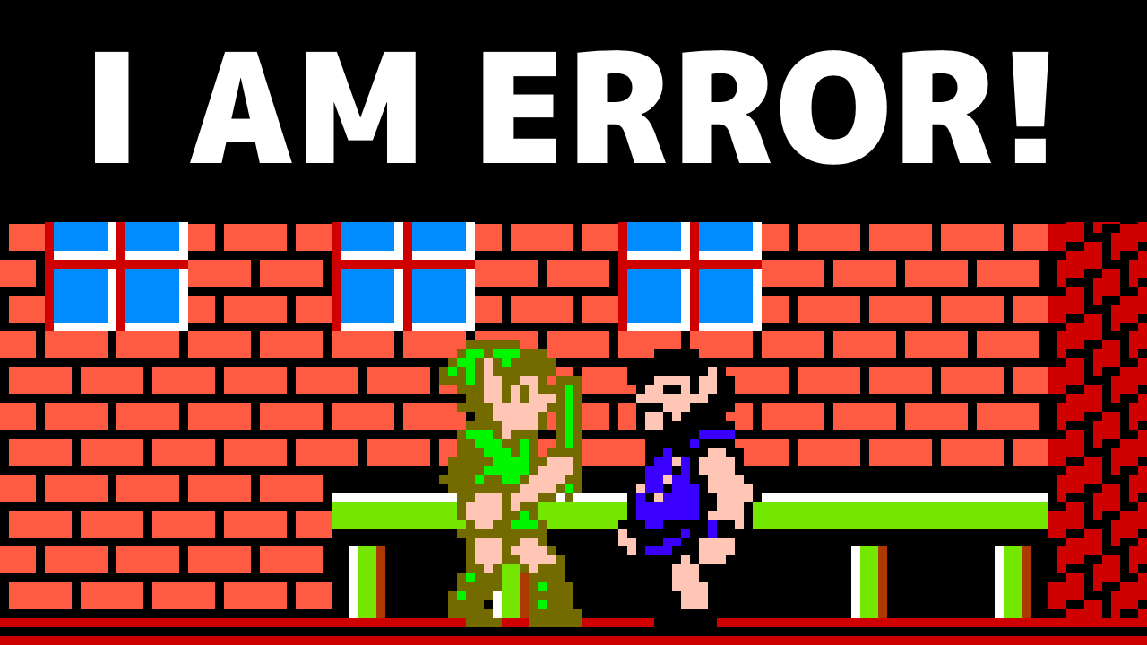Why That One Guy In Zelda II Says I Am Error Legends