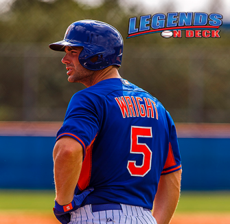 David Wright along with Steven Matz, made a rehab appearance with Class-A St. Lucie on Saturday afternoon as they make their way back to New York.  (Gabe Rodriguez)