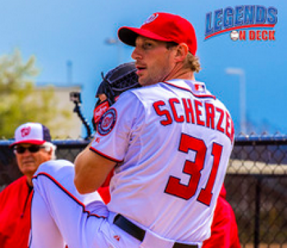 Nationals' Max Scherzer was just five outs shy of a no-hitter on Monday afternoon. (Gabe Rodriguez)