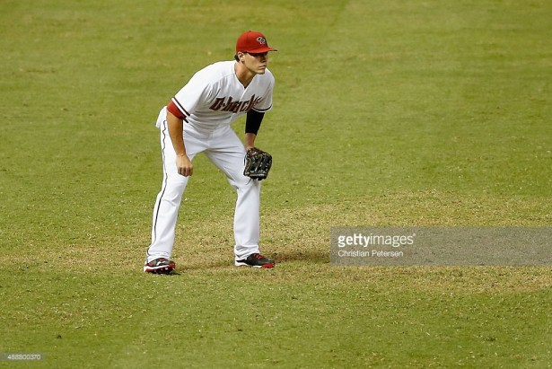 Pete O'Brien during the MLB game at Chase Field on September 11, 2015 in Phoenix, Arizona. (Getty Images)