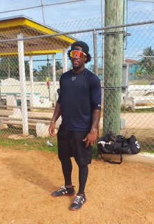 This off Season at Home in the Bahamas with Marlins Anfernee Seymour