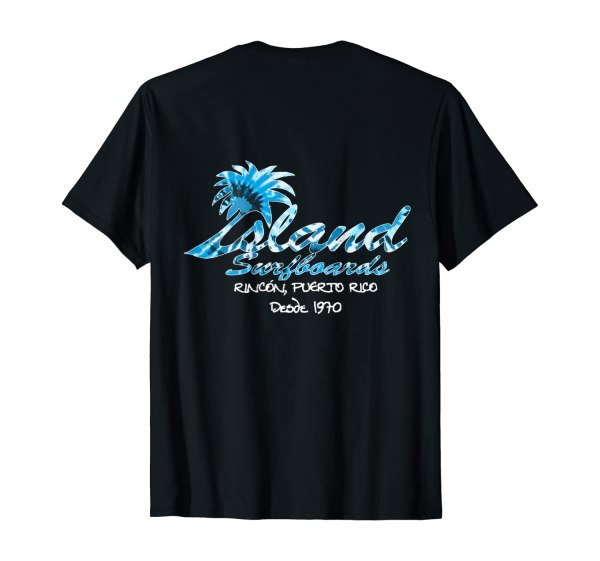 Island Surfboard Design from 1970 T-Shirt