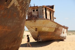 Aral Sea, two ships