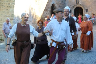 Medieval dance display