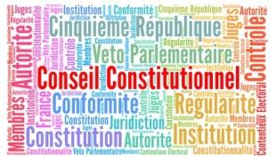 Conseil constitutionnel nuage de mots