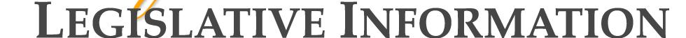 Legislative Information text image