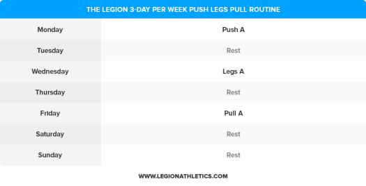 3-Day-Push-Legs-Pull-Routine