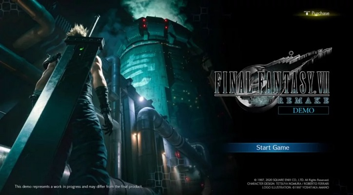 gameplay demo final fantasy vii remake