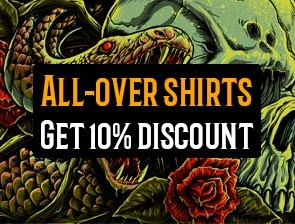 10% Off All-over shirts