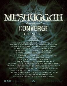 Meshuggah, Converge & Torche - Full Tour Poster