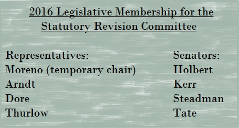 Statutory Revision Committee: A Legislative Revival