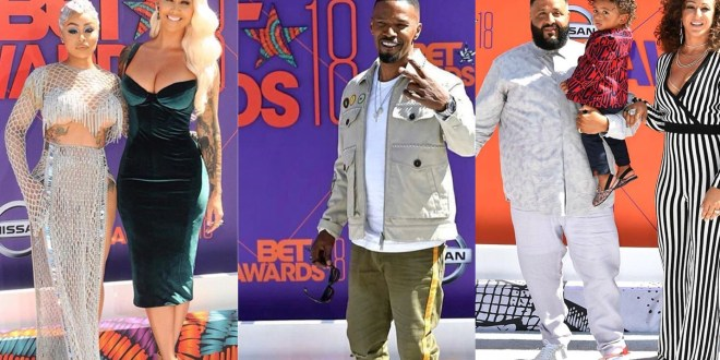 Top Stunning Celeb Photos At 2018 BET Awards Red Carpet