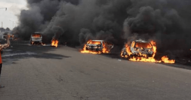 VIDEO/PHOTOS: Tanker Explodes At Berger Along Lagos-Ibadan Expressway, Claims Several Lives