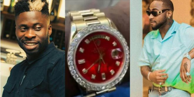 Davido Reacts, Dj Ecool Buys Himself A ₦16 Million Diamond Encrusted Watch
