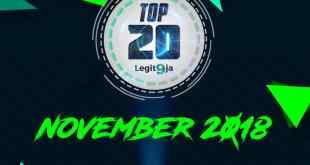 2018 November Top 20 Songs