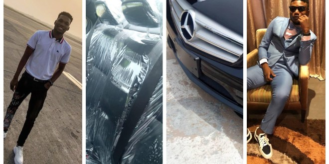 """Etins Record Boss Gifts """"Victor AD"""" a Brand New Benz For Christmas(Photos)"""
