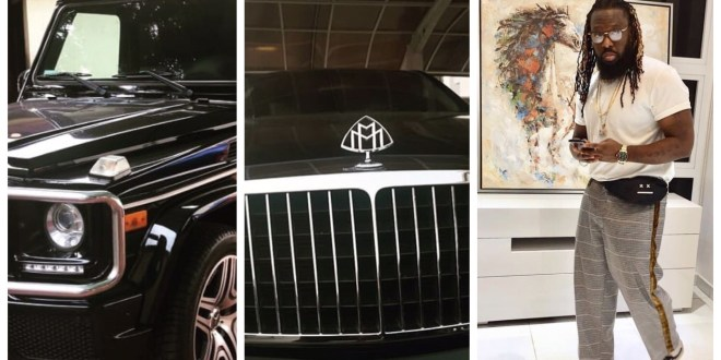 Timaya Gift Himself A Maybach Benz & G-wagon For Christmas