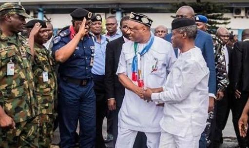 VP Prof. Yemi Osinbajo and Chief Great Ogboru in Warri (Photos)