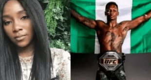 Genevieve Nnaji celebrates Nigerian UFC champion, Israel Adesanya
