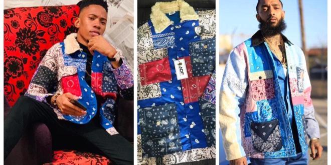 Nigerian Singer, Brenny Jones Becomes First To Rock Nipsey Hussle Jacket (Photos)