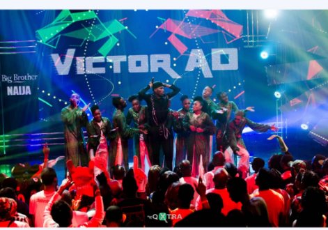 Photos from Victor Ad's Performance at #BBNaija Live Show