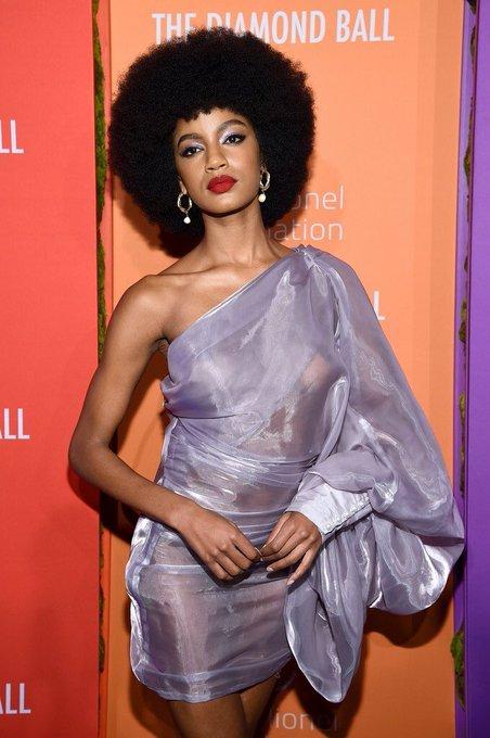 Ebonee Davis Exposes Her B00bs at Rihanna's 5th Annual Diamond Ball