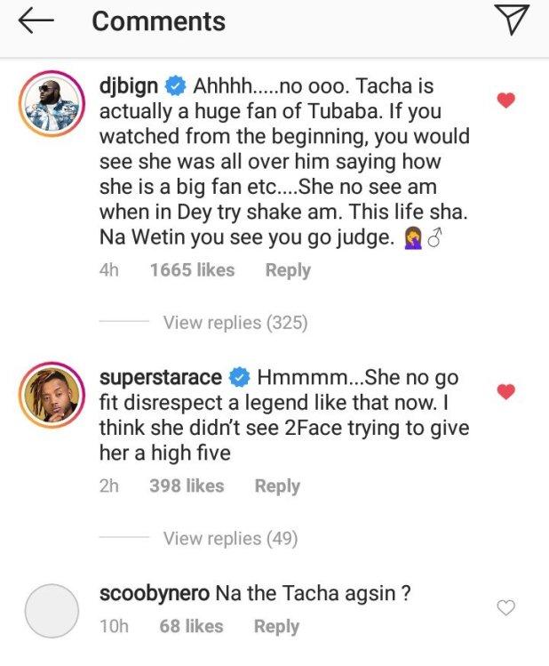 Tacha disrespects tubaba