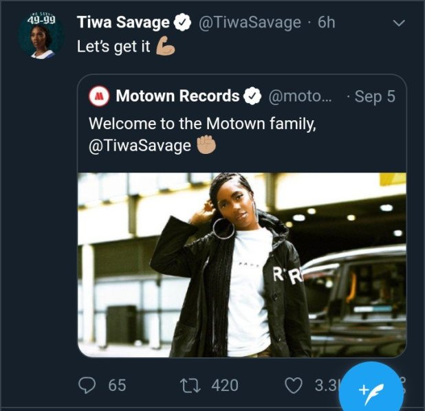 BREAKING: Tiwa Savage Signs for American Motown Records