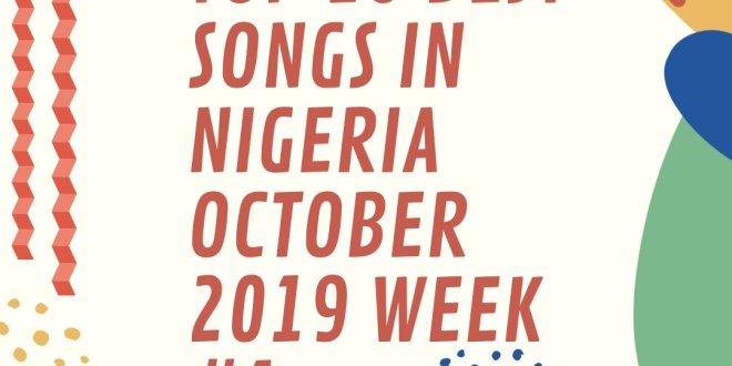 Top 10 Best hottest jams Songs in Naija October 2019 Week #1