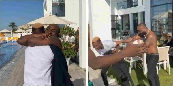 LOL! Davido Throws Lil Frosh's 'Fake Rolex' Into The Sea (VIDEO)