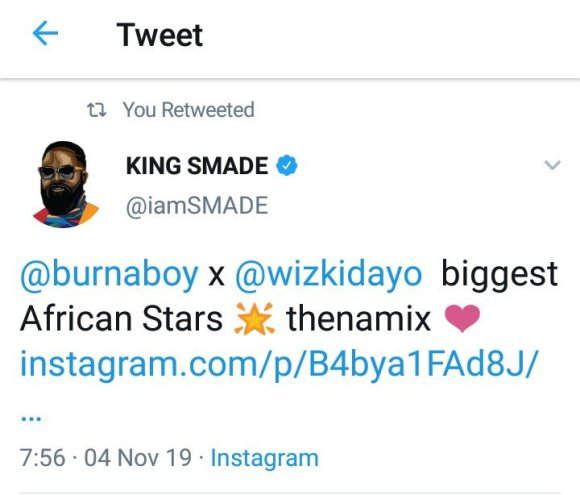 """""""Wizkid and Burna Boy are Biggest African Stars"""" - SMADE events CEO"""
