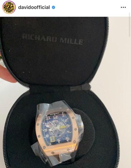 Davido 180 Million Naira Wristwatch