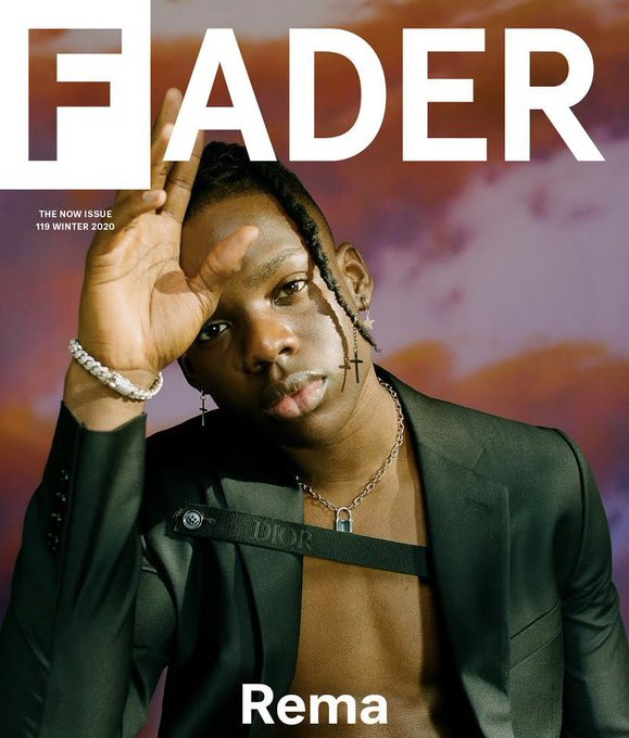 Rema Joins Drake, Kenderick Lamar, Lil Wayne on the Front Cover of Fader