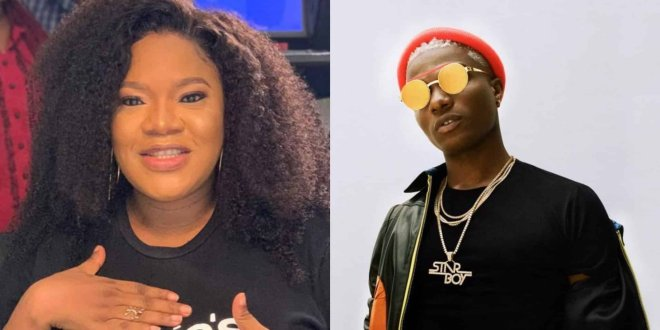 JUST IN: Actress Toyin Abraham Chokes Wizkid With Kisses in Cute Video