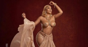 PHOTOS: Toyin Lawani Shows Of Skin In New Fashion Design (+18)