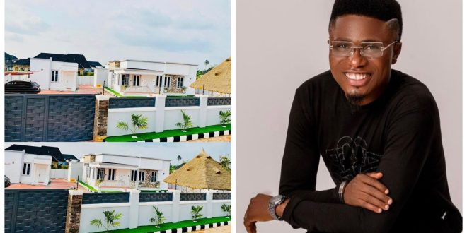 Comedian Mc Edopikin Celebrates New House, Dedicated To His Son (Photos)