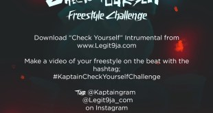 """Download Kaptain """"Check Yourself"""" Instrumental And Join The Freestyle Challenge"""