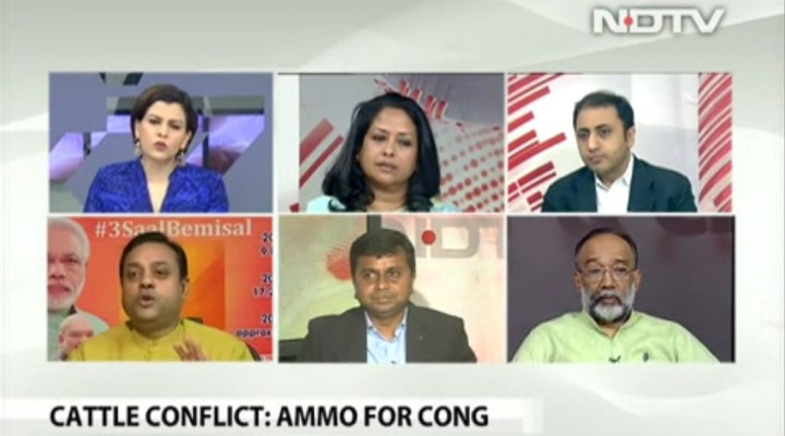 Watch: NDTV Journalist Nidhi Throws Out Sambit Patra from Her Show