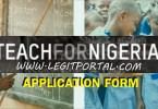 Teach For Nigeria Application