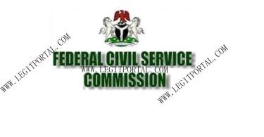 Federal Civil Service Commission FCSC Recruitment