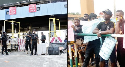 Lekki Toll Gate and protesters