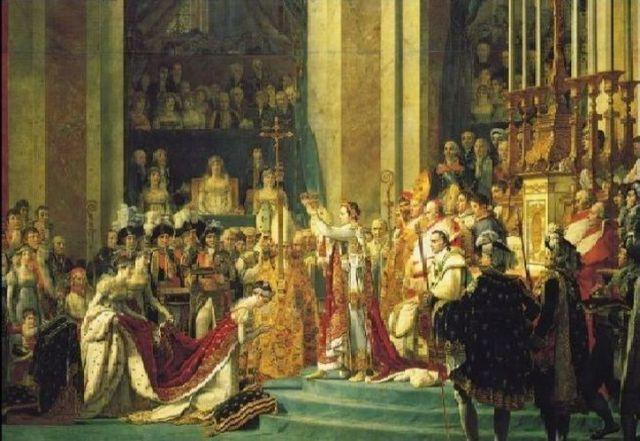 L'inventeur de la Légion d'honneur s'est lui même mis la couronne sur la tête - extrait du Sacre du peintre David