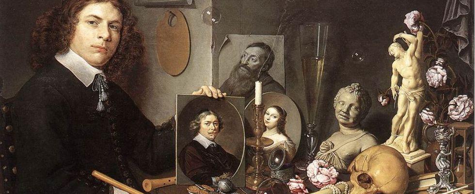 David Bailly Vanité au portrait, huile sur toile 90 x 122 cm vers 1650