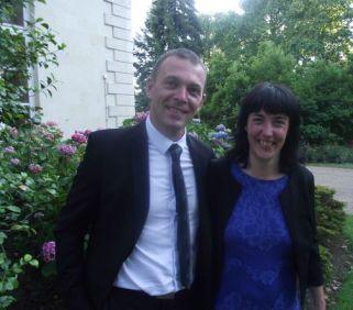 Josselin Chouzy, et Géraldine Bannier, la députée élue dans la deuxième circonscription
