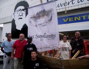 De gauche à droite Philippe Leroy, James Charbonnier, Joseph Senetet, Romain Chaupitre, Fanny Pirotais et Jean-Luc Bansard